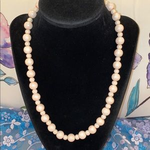 🌸🌸Vintage Pink Beaded Necklace🌸🌸